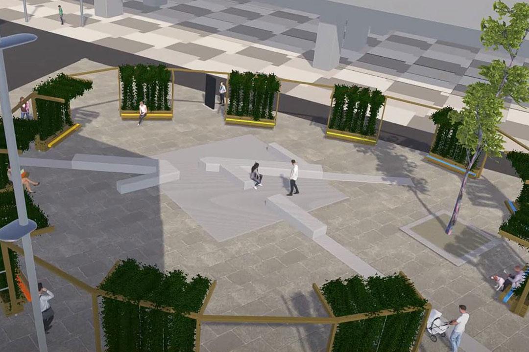 Modell Begrünung Seestadt Aspern